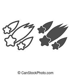 contour, solide, tomber, blanc, pictogramme, concept ...