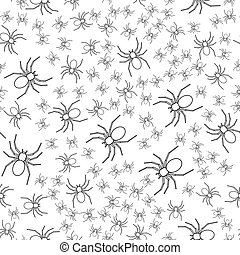 Contour spider pattern - Seamless pattern of the cartoon...