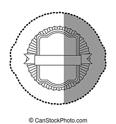 contour square emblem with ribbon icon