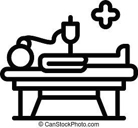 contour, style, anesthésie, icône, urgence