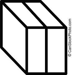 contour, style, boîte, icône, importation