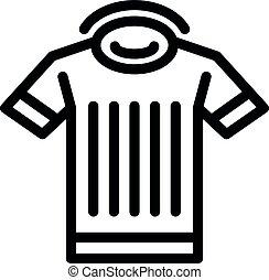contour, style, icône, arbitre, chemise, lancer