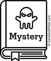 contour, style, livre, icône, mystère, vieux