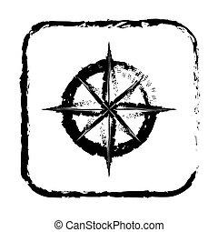 contour symbol compass icon