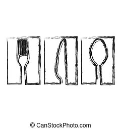 contour symbol cutlery food icon