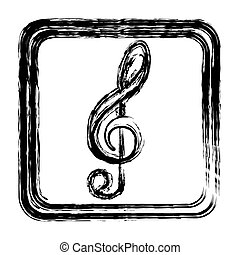 contour symbol music sign icon