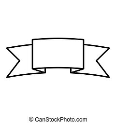 contour symbol ribbon icon