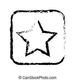 contour symbol star icon