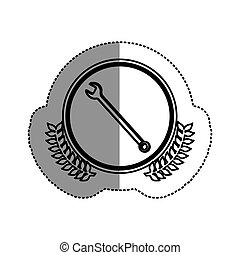 contour symbol wrench icon image