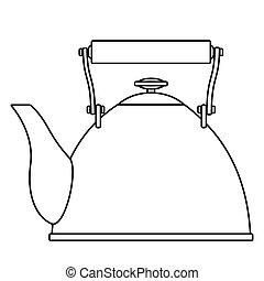 Contour teapot illustration