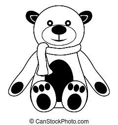 Contour teddy bear
