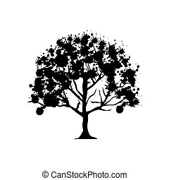 contour trees with some leaves icon