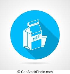 Contour vector icon for pasteurized milk