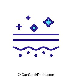 contour, vector., illustration, soin peau, symbole, isolé,...