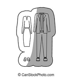 contour with formal suit clothing