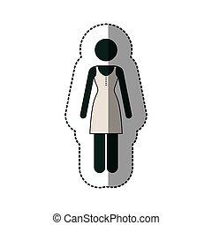 contour woman dress icon image