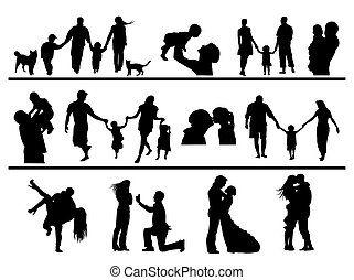 contours of people in different situations