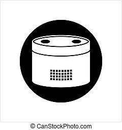 contrôlé, voix, orateur, intelligent, icône