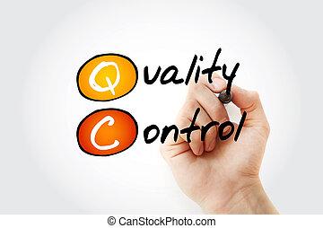 contrôle, acronyme, -, qc, marqueur, qualité