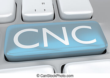 contrôle, concept, -, cnc, fabrication