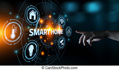 contrôle, concept, réseau, system., innovation, automation, internet, maison, technologie, intelligent