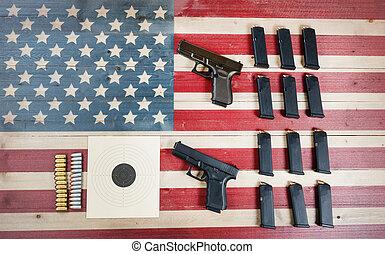contrôle, constitutional, fusil, usa, lois