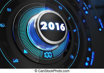 contrôle, contrôleur, 2016, noir, console.
