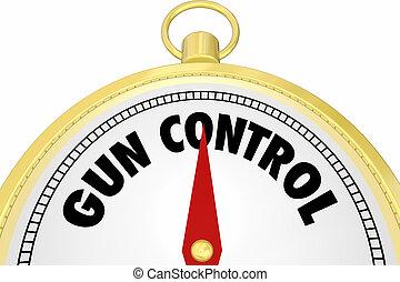 contrôle, direction, fusil, illustration, direction, compas, lois, 3d