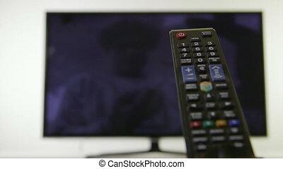 contrôle, dolly:, télévision éloigné