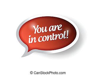 contrôle, illustration, vous, bulle, message, rouges