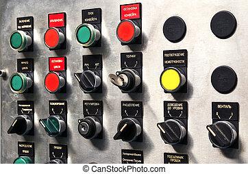 contrôle, industriel, moderne, panel.