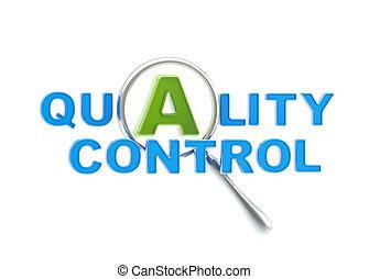 contrôle, loupe, qualité, sous