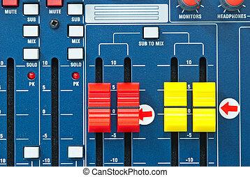 contrôle, musique, panneau