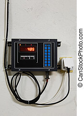 contrôle, panneau électronique