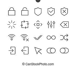 contrôle, parfait, graphiques, 48x48, pictogramme, simple, ...