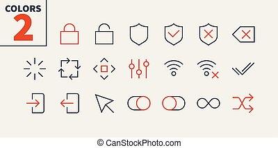 contrôle, pictogramme, simple, 24x24, stroke., prêt, parfait...