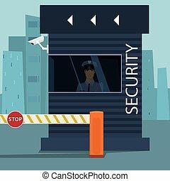 contrôle, point de contrôle, passeport, sécurité, frontière, ou
