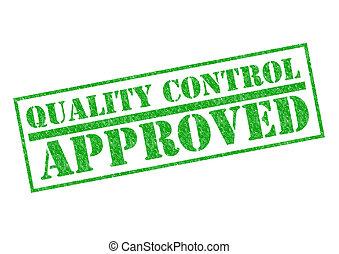 contrôle, qualité, approuvé