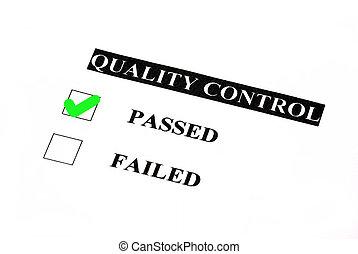 contrôle, qualité, passé