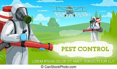 contrôle, récolte, agricole, pesticides, casse-pieds