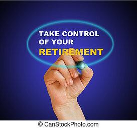 contrôle, retraite, prendre, ton