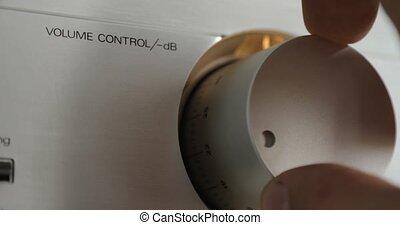 contrôle, sound., virages, rotatif, volume, commutateur, ...