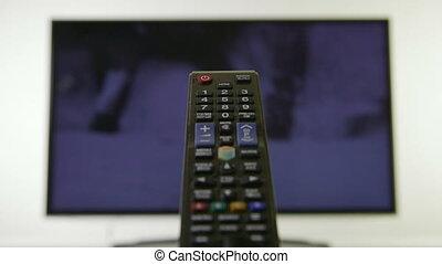 contrôle, télévision éloigné