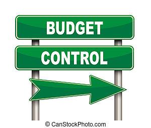contrôle, vert, budget, panneaux signalisations