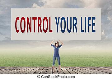 contrôle, vie, ton