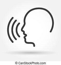 contrôle, voix, icône