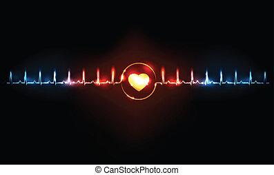 contrôler, coeur, concept, taux