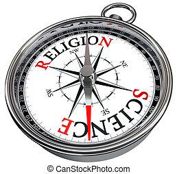 contra, concepto, religión, ciencia