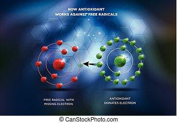 contra, libre, antioxidante, trabaja, radical