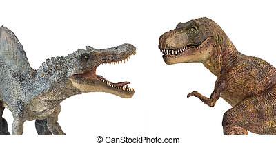 contra, rex, isolado, tyrannosaurus, fundo, branca,...